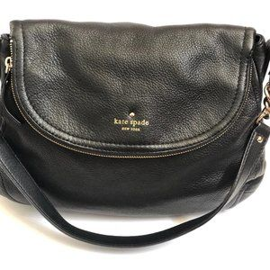 Kate Spade Handbag Leather Black Tote Purse